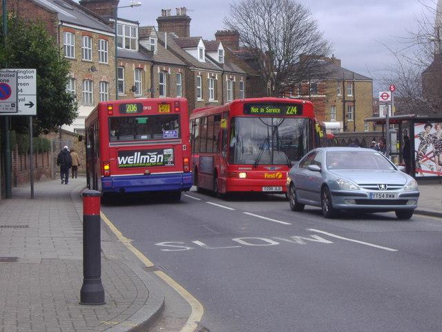 Buses on Acton Lane, Harlesden