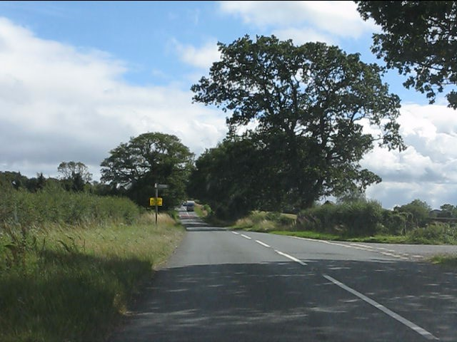 B4202 at the junction for Bayton