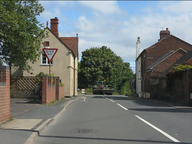 Clows Top cross roads from the southbound B4202