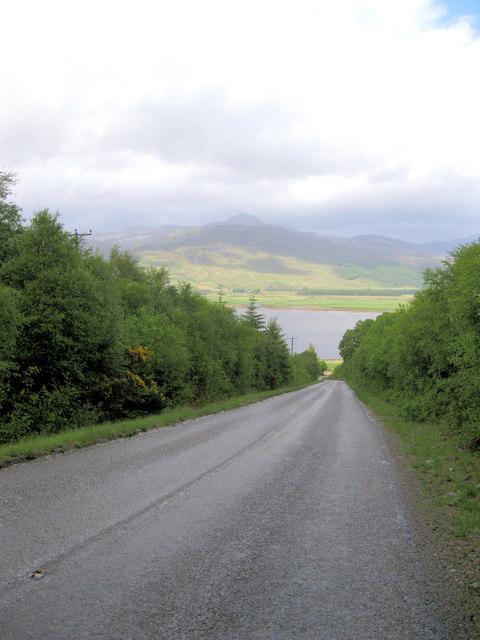 Steep hill to Loch Carron