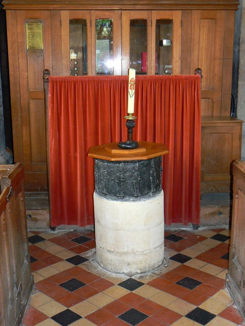 Font, St Mary's Church, Childrey