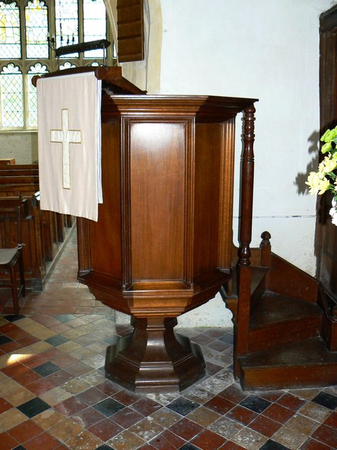 Pulpit, St Mary's Church, Childrey