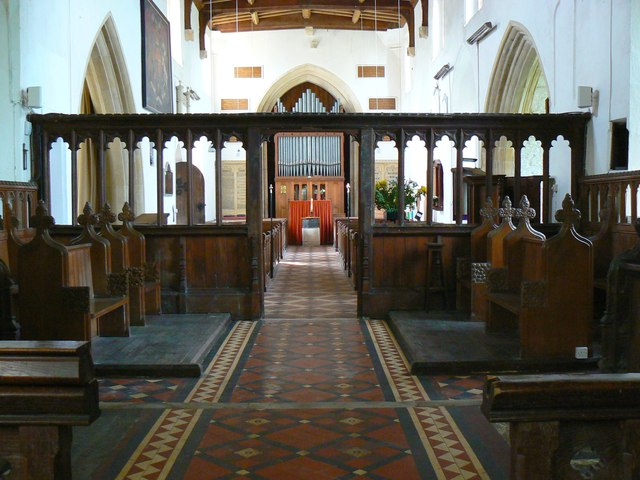 From the chancel to the nave, St Mary's Church, Childrey