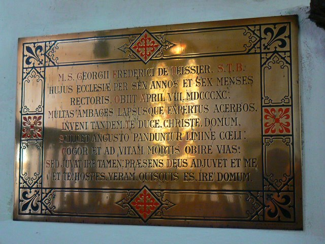 Brass commemorative plaque (2 of 2), St Mary's Church, Childrey