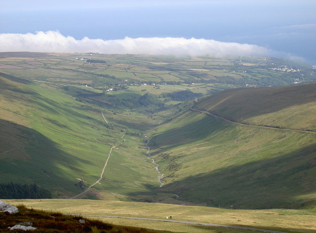Laxey Valley, with cloud