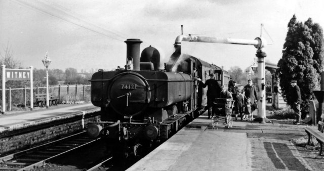 Witney station, with an Oxford - Fairford train