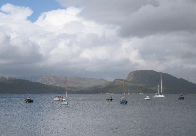 Boats in Plockton Harbour