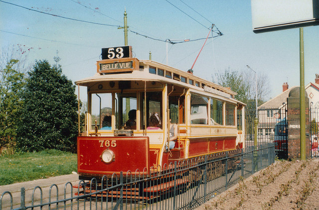 Manchester tram 765 at Heaton Park Tramway, Manchester