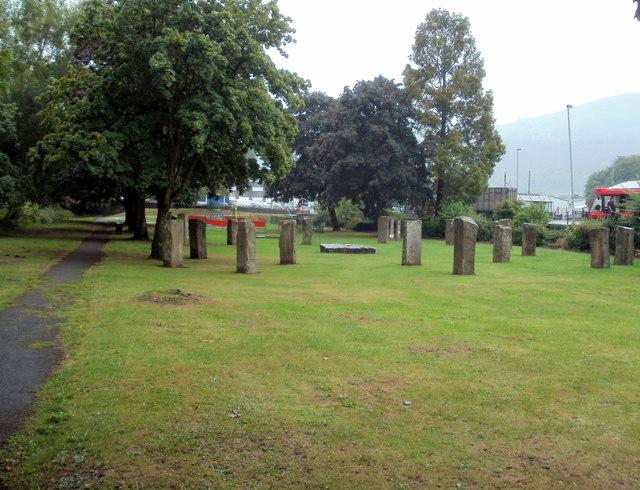 Standing stones, Swan Meadow, Abergavenny
