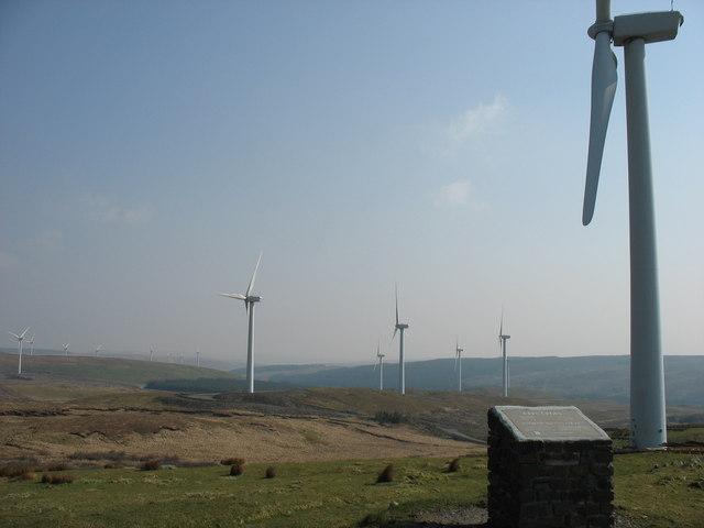 Wind Farm on Cefn Croes