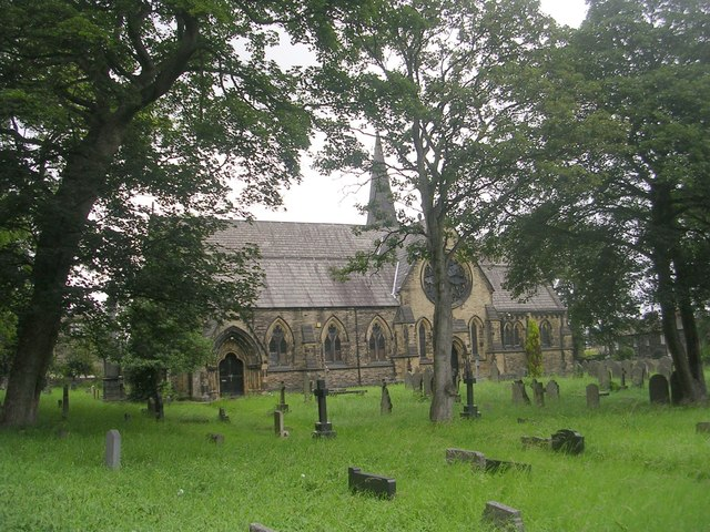 St Marks Church, Low Moor - viewed from Huddersfield Road