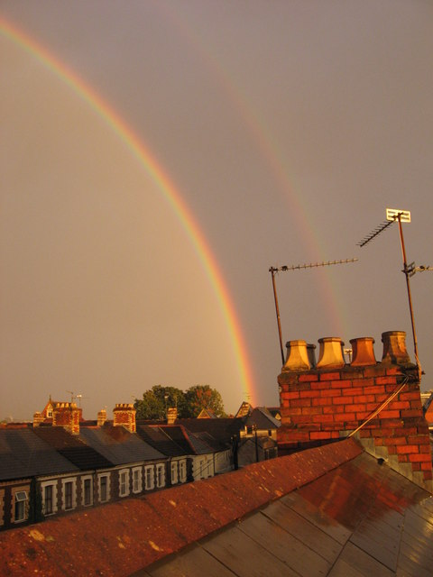 Double rainbow over Roath