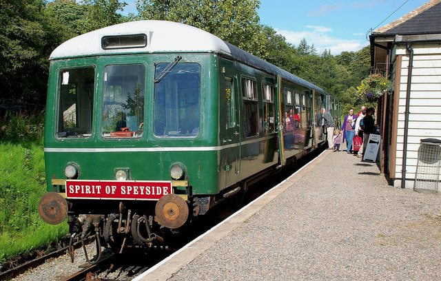 """""""The Spirit of Speyside"""" at Keith Town Station"""