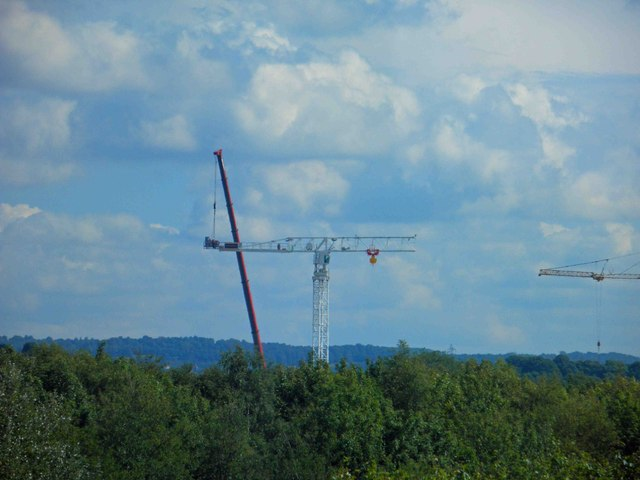 Only 1/2 tower crane