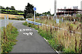 J0932 : Cycle lane near Newry by Albert Bridge
