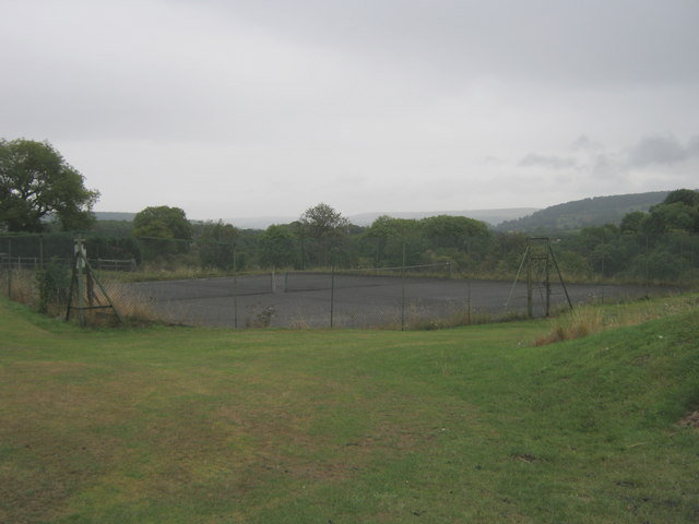Tennis courts in Youlgrave