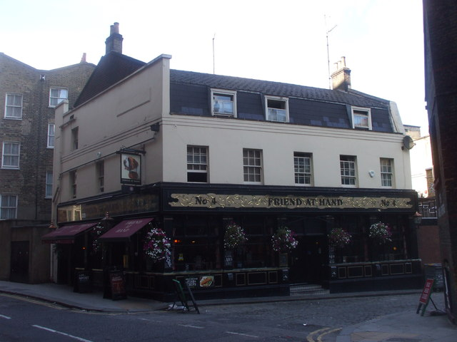 The Friend at Hand, Herbrand St, London