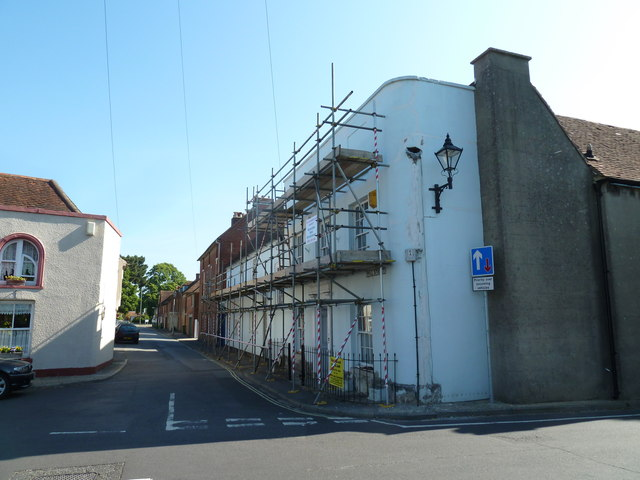 Scaffolding at the top of East Street