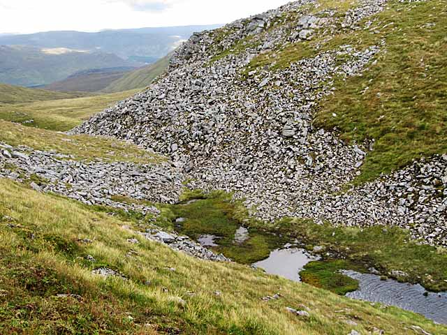 Bealach and start of stream west of Carn Liath