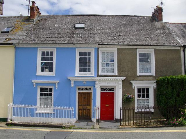 Dapper cottages in Hamilton Street, Fishguard/ Abergwaun