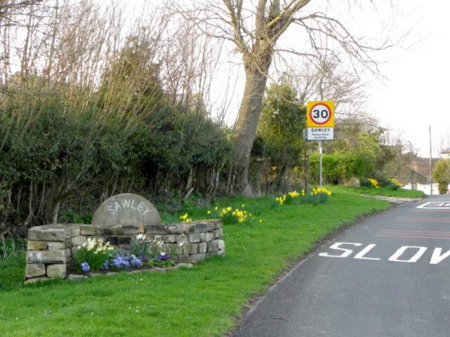 Village sign, Sawley