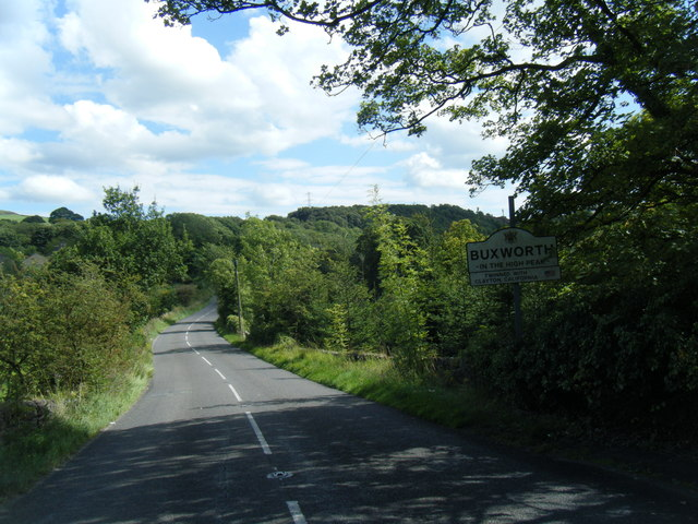 Buxworth village entrance sign on New Road
