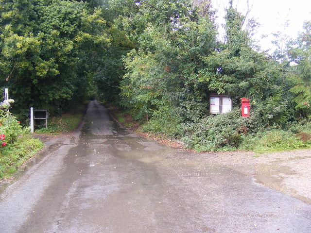 School Road & Monk Soham Postbox