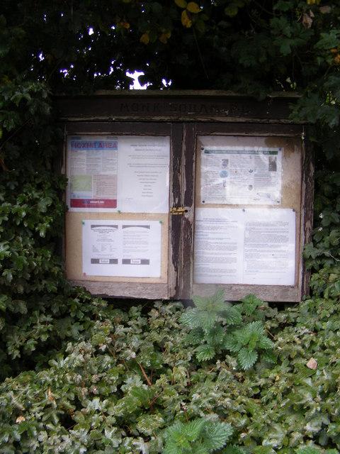 Monk Soham Village Notice Board