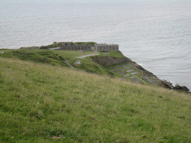 Brean Down and disused fort