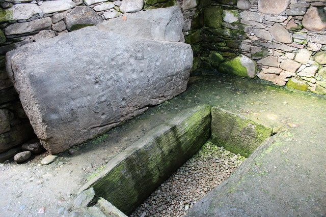 Reconstructed interior of Nether Largie North Cairn
