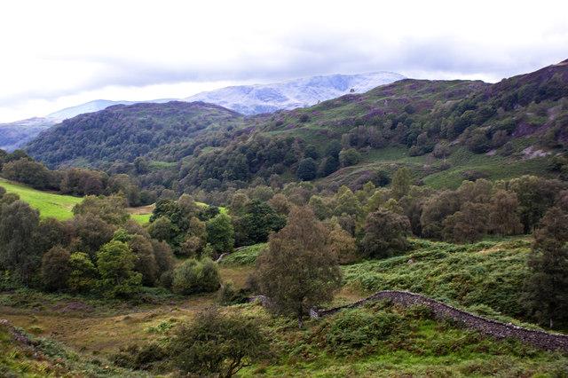Furness Fells from below Stone Chair Hill