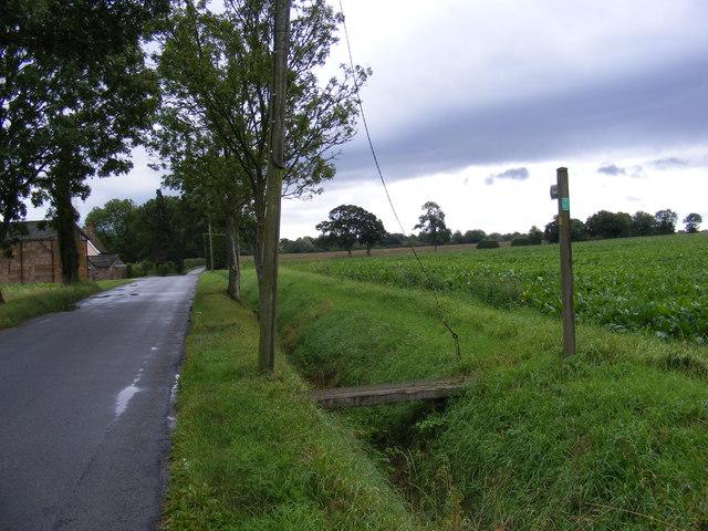 New Road & footpath along New Road