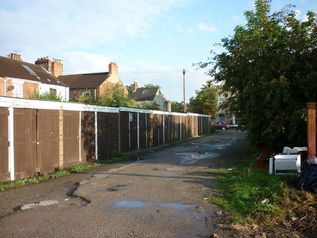 Lock-up garages off Alexandra Road