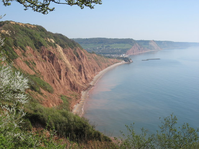 The cliffs at Windgate, west of Sidmouth