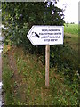 TM2269 : Worlingworth Equestrian Centre sign by Adrian Cable