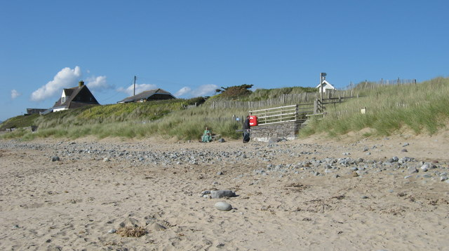 Pedestrian access to Llandanwyg beach