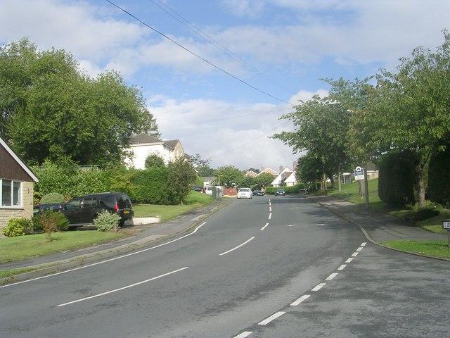 Langley Lane - viewed from Hollin Head