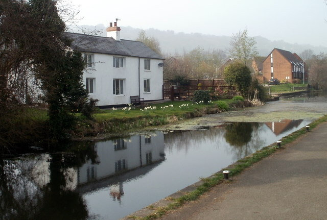 Canalside houses, Five Locks, Cwmbran