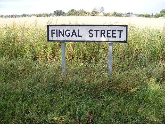 Fingal Street sign