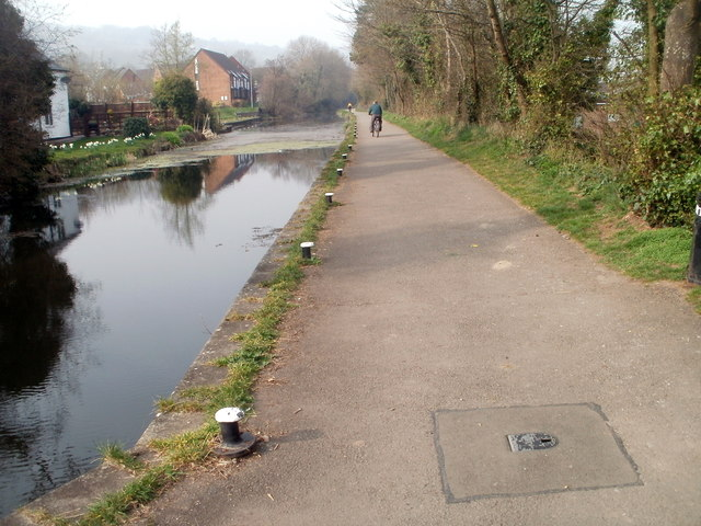 Former canal towpath, Five Locks, Cwmbran