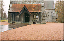 NO2694 : Crathie Kirk (2) - porch, Crathie by P L Chadwick