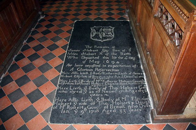 St Mary & St Margaret, Sprowston, Norwich - Ledger slab
