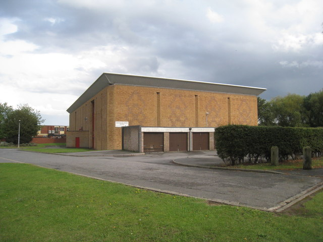 The rear of Immingham Sports Centre