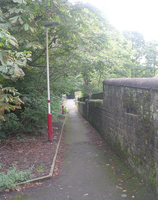 Footpath from Roundwood Road over Bridge GUE2/8