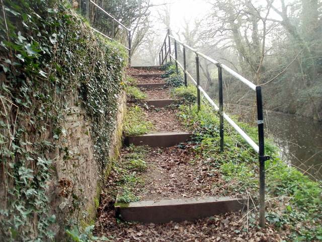 Steps up from Cwmbran canal tunnel