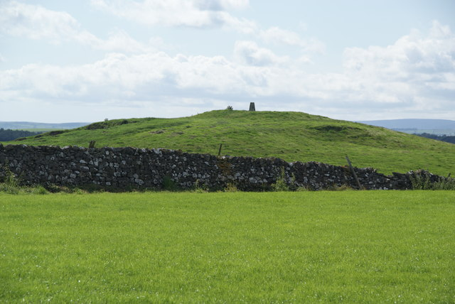 Trig point on Haw Crag