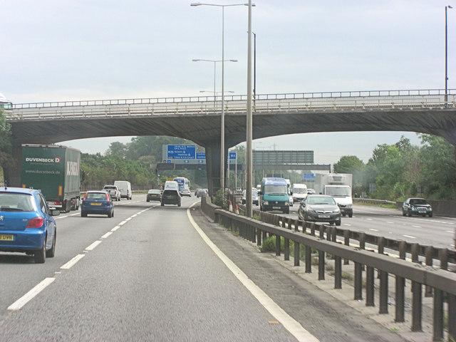 M4 bridge carries Sutton Lane