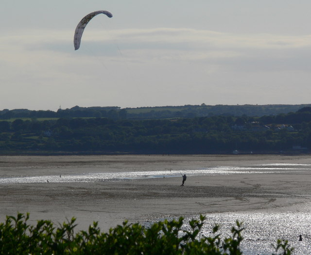 Kite surfing on Red Wharf Bay