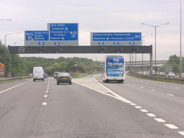 M4 slip road at junction 4b