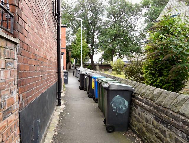 Wheelie bins in Tinker's Passage